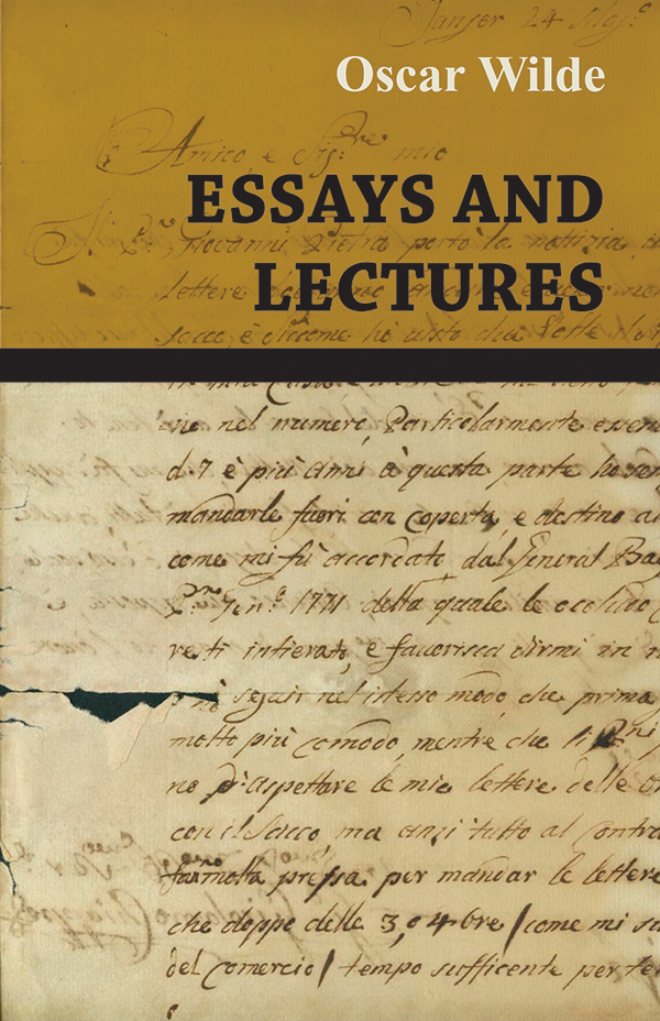 oscar wilde critical essays